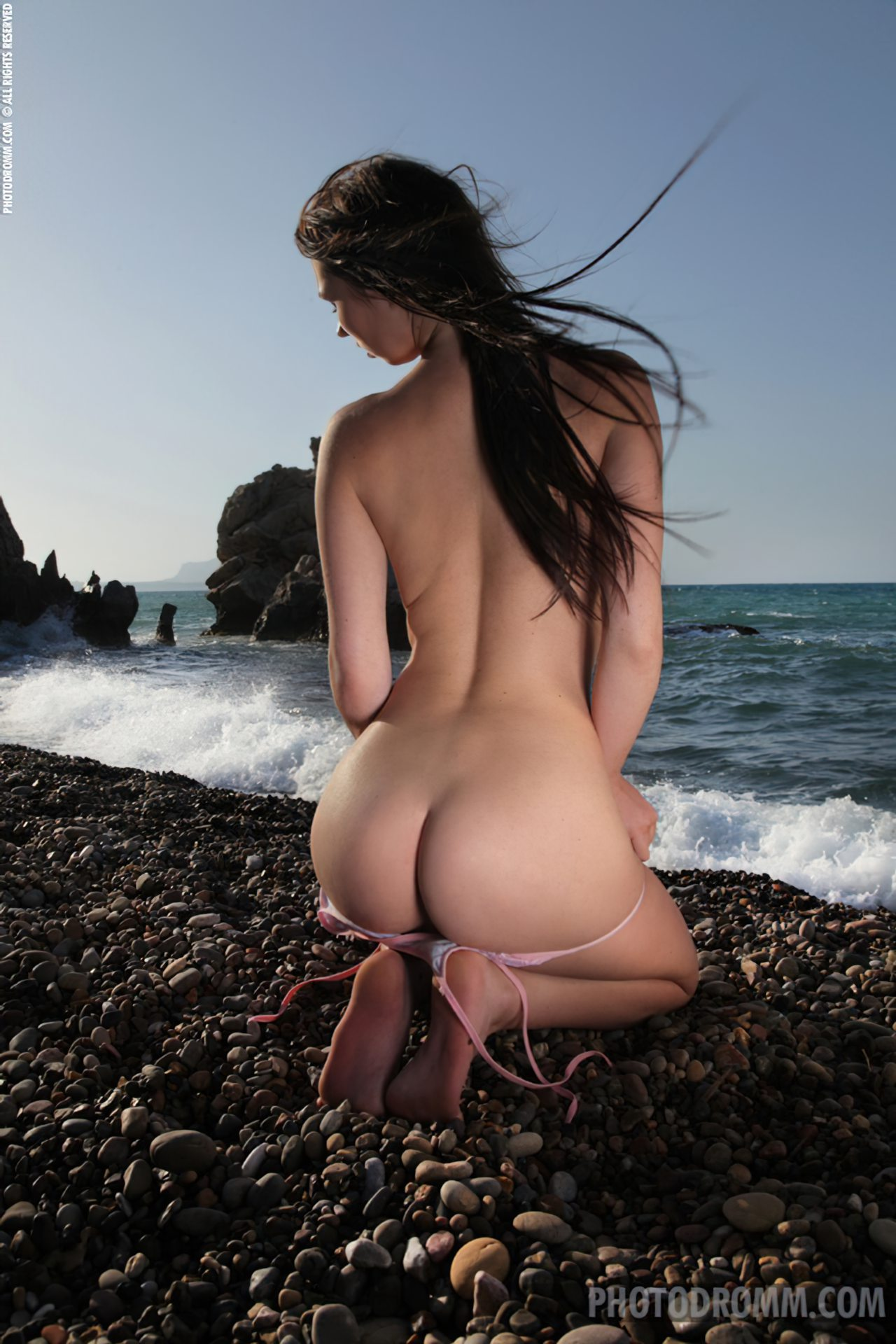 Mulher Nua Praia (5)
