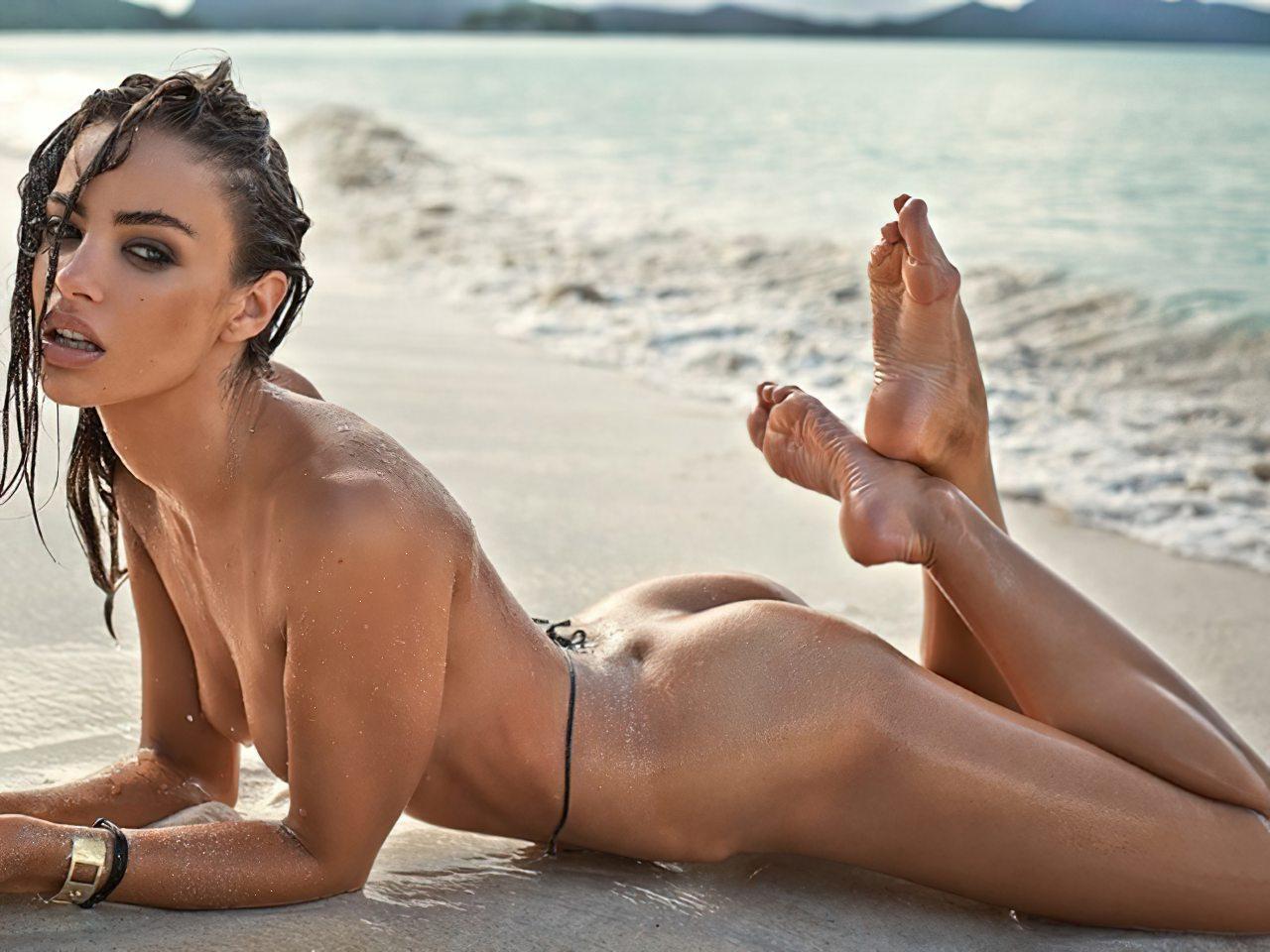 Nicole Meyer Nua na Praia (3)