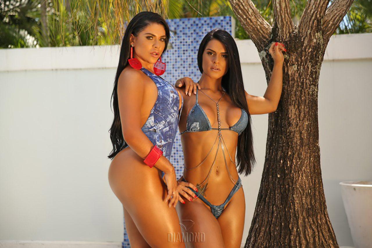 Fran Petersen e Luana Caetano Peladas (7)